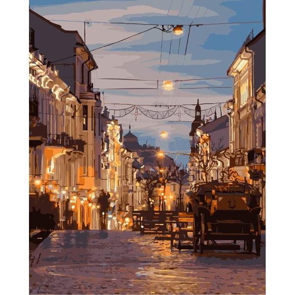 Картина по номерам Города - Вечірні Чернівці