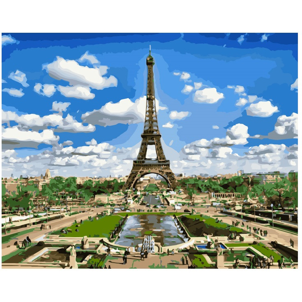 Картина по номерам Города - Ейфелева вежа