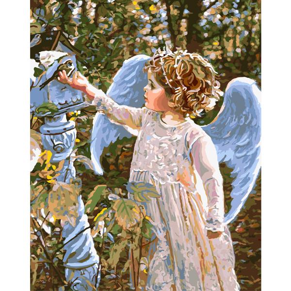 Картина по номерам Дети и ангелочки - Маленький Серафим