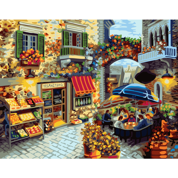 Картина по номерам Пейзажи - Домашній ресторанчик