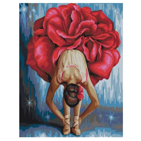 Картина по номерам Люди на картинах - Квіткова балерина