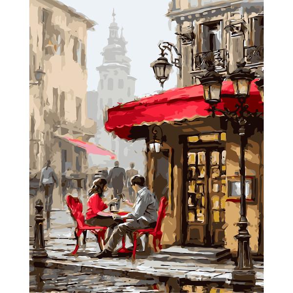 Картина по номерам ПРЕМИУМ картины - Лондонское кафе