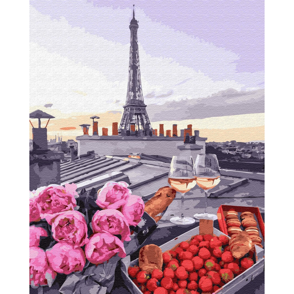 Картина по номерам ПРЕМИУМ картины - Романтика в Парижі