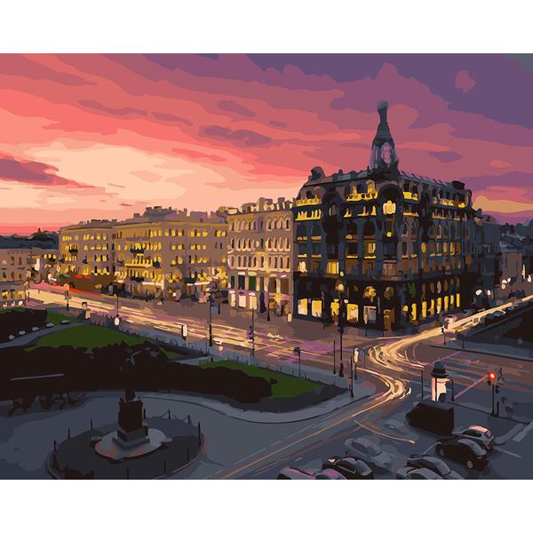 Картина по номерам Пейзажи - Вечерняя площадь