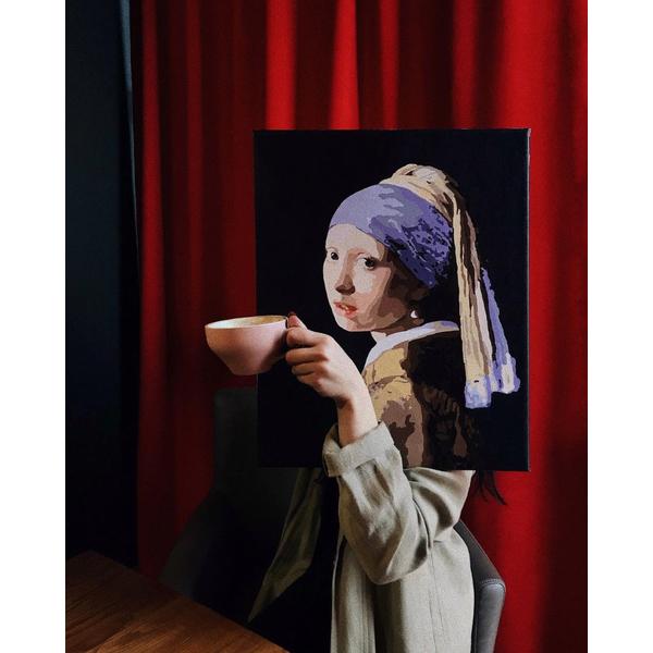 Картина по номерам Репродукции художников - Дівчина з перловою сережкою