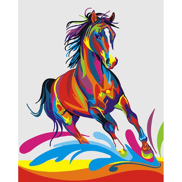 Картина по номерам Поп-арт - Радужный конь