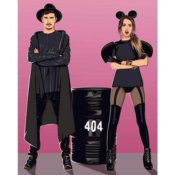 Картина по номерам MOZGI Entertainment - ЧАС І СКЛО 404