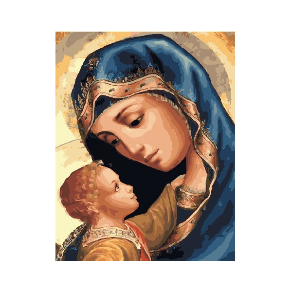Картина по номерам Дети и ангелочки - Матір Божа
