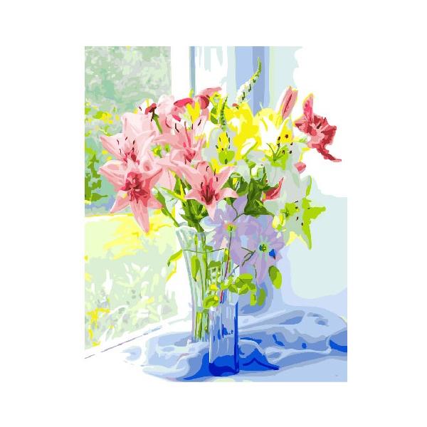 Картина по номерам Цветы - Весенний букет лилий