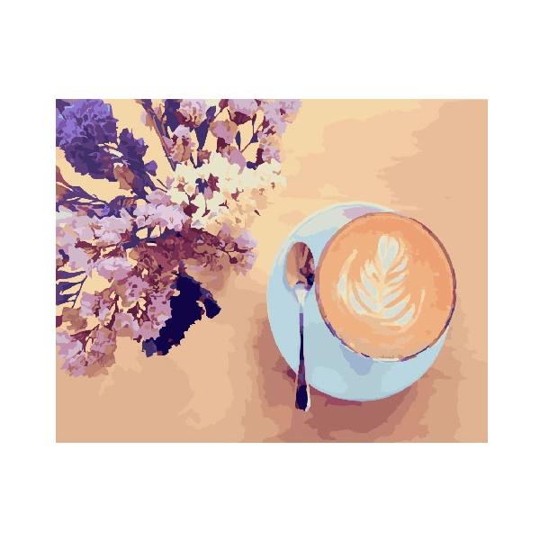 Картина по номерам Для начинающих - Лавандовый кофе