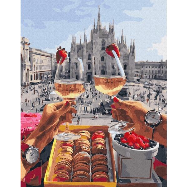 Картина по номерам Уникальные сюжеты - Завтрак в Милане