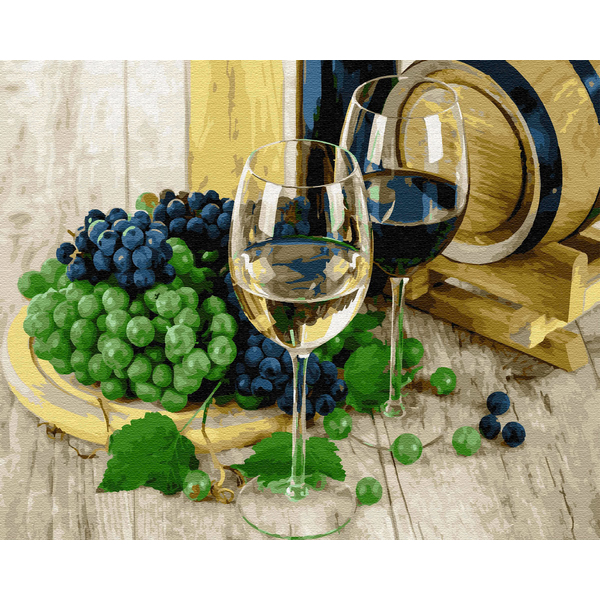 Картина по номерам Натюрморты - Виноділля