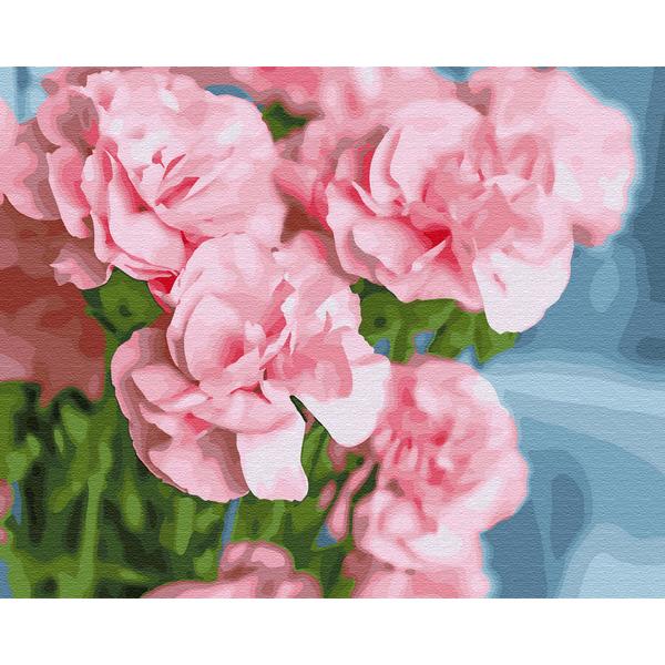 Картина по номерам Для начинающих - Рожева камелія