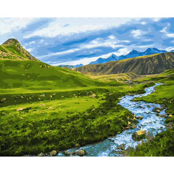 Картина по номерам Пейзажи - Альпийский луг