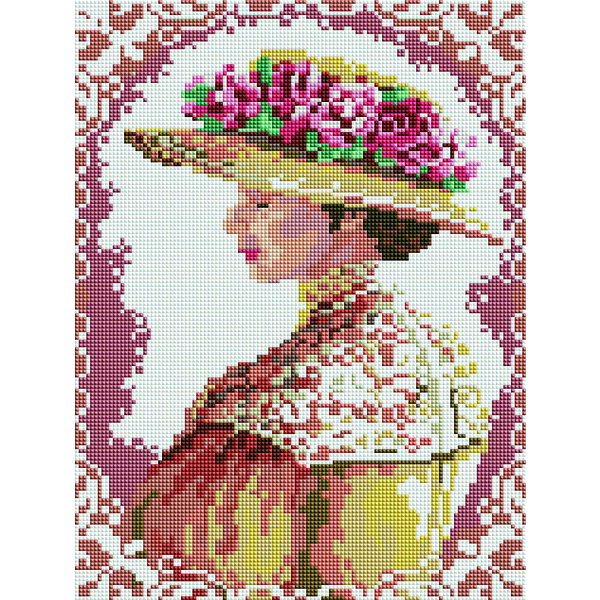 Алмазная мозаика 40x30 - Аристократична дама
