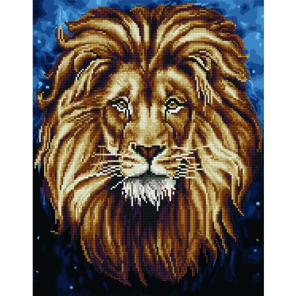 Алмазные картины-раскраски - Лев