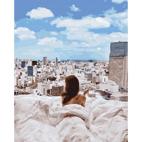 Картина по номерам Уникальные сюжеты - Ранок у великому місті