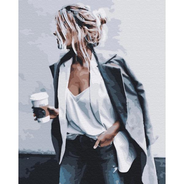 Картина по номерам Люди на картинах - Кофе-брейк