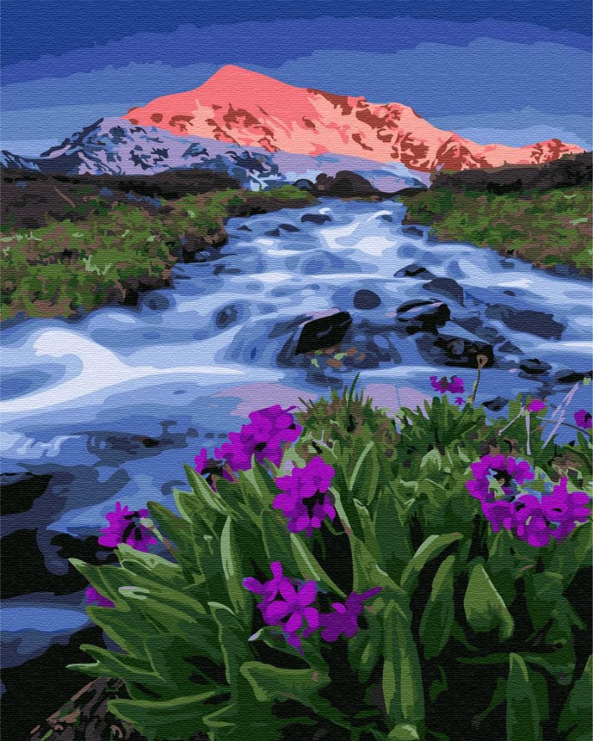 Картина по номерам Пейзажи - Весна у подножья гор