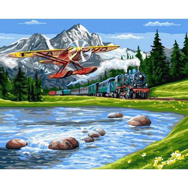Картина по номерам Пейзажи - Путешествие в горы