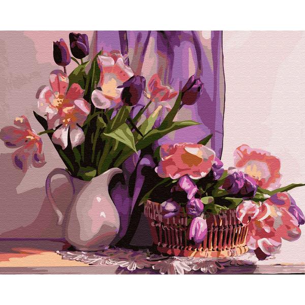 Картина по номерам Цветы - Вдома у музи
