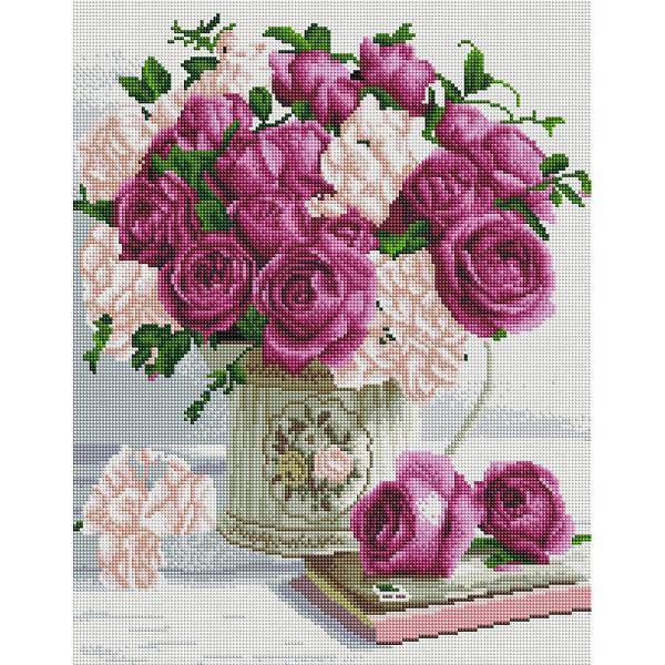 Алмазная мозаика 40х50 - Букет троянд