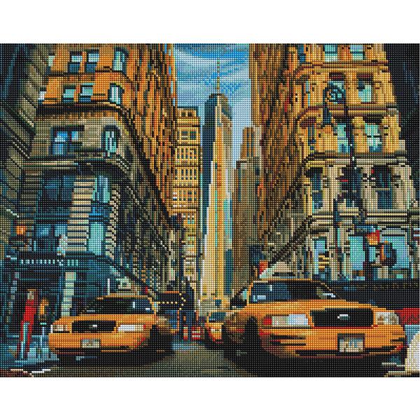 Алмазная мозаика 40х50 - Таксі Нью-Йорка
