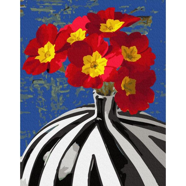 Картина по номерам Для начинающих - Квіти в сюрреалістичній вазі
