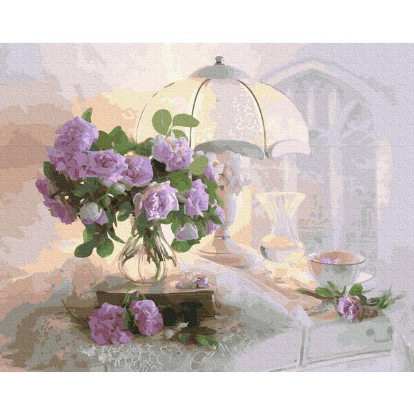 Картина по номерам Цветы - Ранкова ніжність