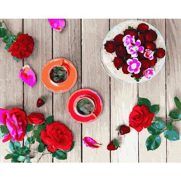 Картина по номерам Натюрморты - Трояндовий флетлей