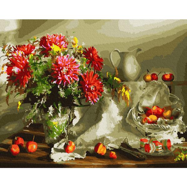 Картина по номерам Цветы - Щедрий осінній натюрморт