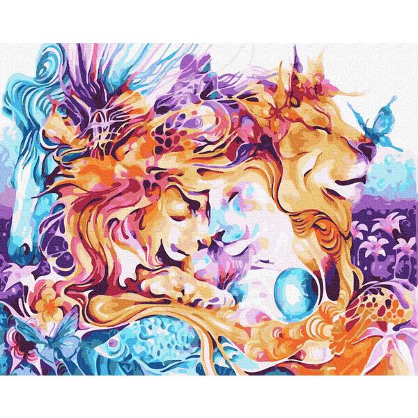 Картина по номерам Животные, птицы и рыбы - Гармонія кохання
