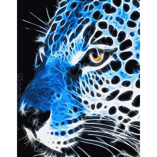 Картина по номерам Животные, птицы и рыбы - Неоновий лев