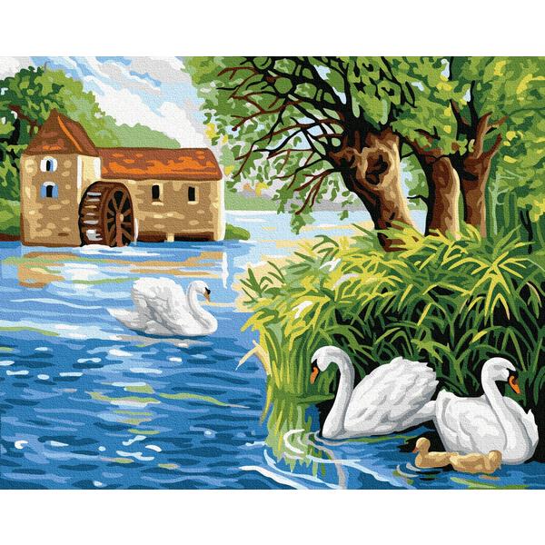 Картина по номерам Пейзажи - Лебедине озеро