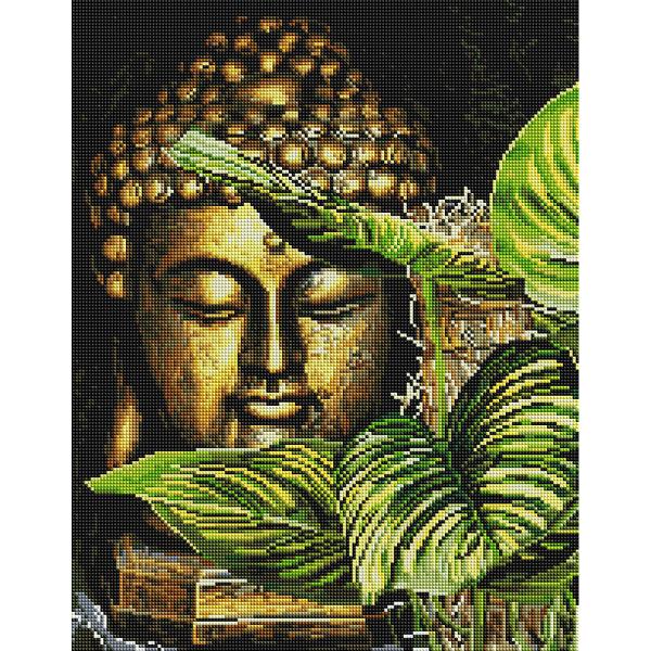 Алмазная мозаика 40х50 - Золотий будда