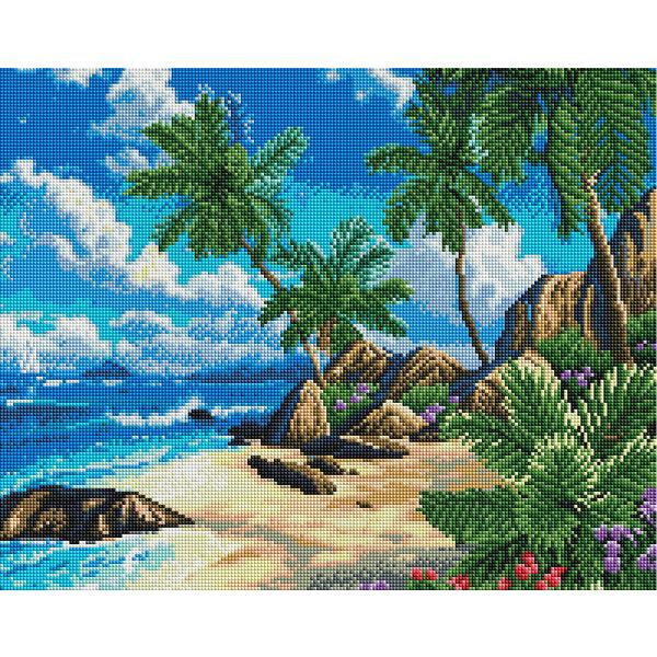 Алмазная мозаика 40х50 - Райское побережье