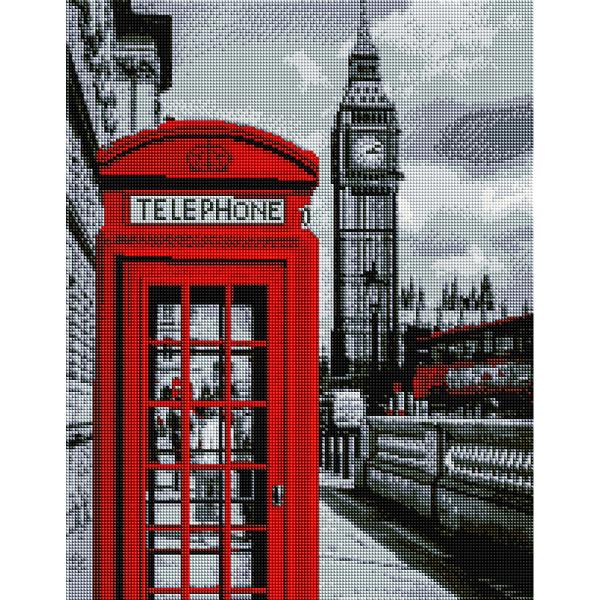 Алмазная мозаика 40х50 - В центре Лондона