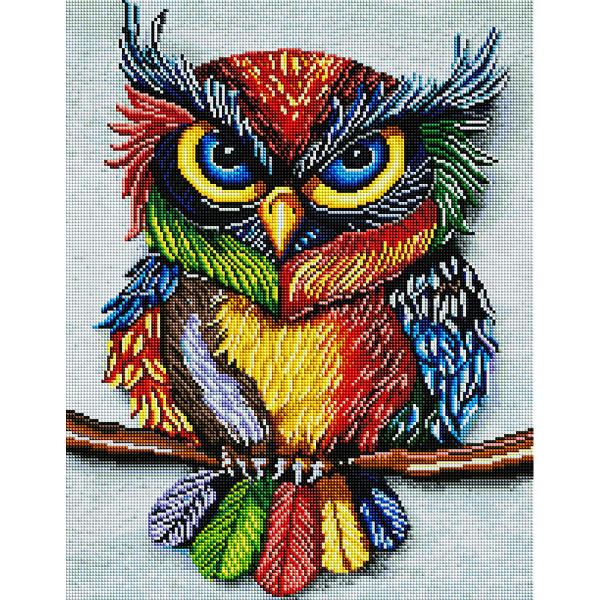 Алмазная мозаика 40х50 - Барвиста сова
