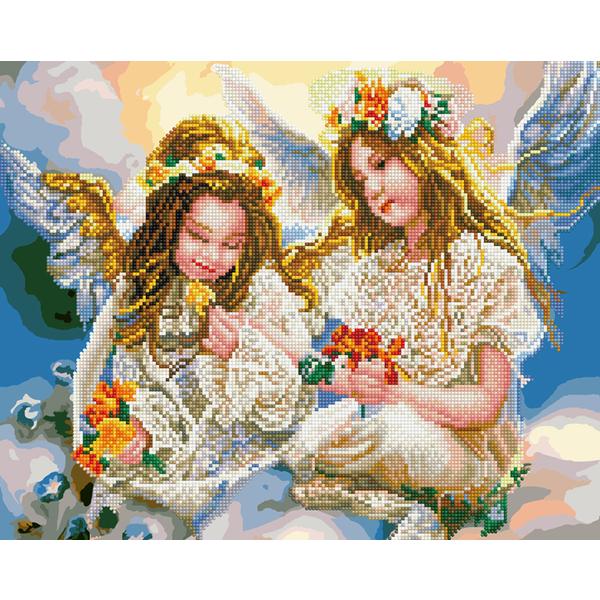 Алмазные картины-раскраски - Два ангелочка