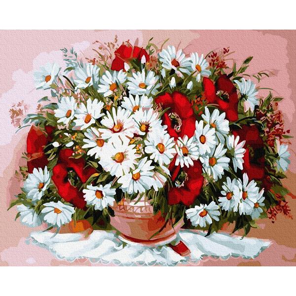 Картина по номерам Цветы - Многообразие цветов