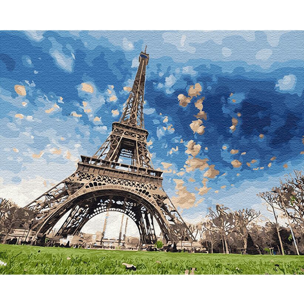Картина по номерам Города - Небо парижу