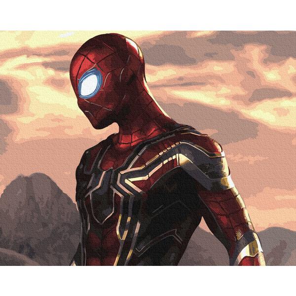 Картина по номерам Мультфильмы, комиксы, аниме - Человек-паук на задании