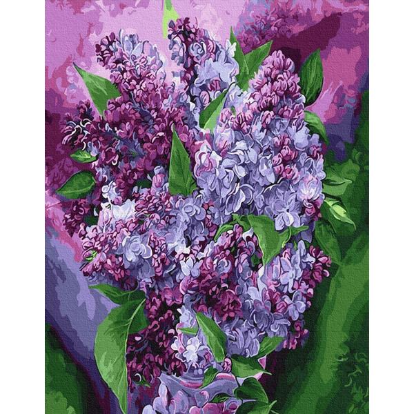 Картина по номерам Цветы - Сиреневое цветение
