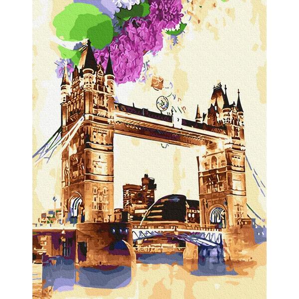 Картина по номерам Города - Тауерський міст аквареллю