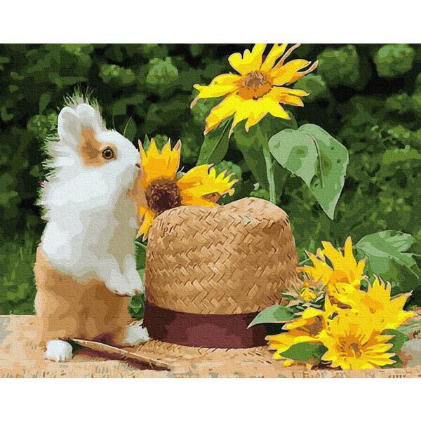 Картина по номерам Животные, птицы и рыбы - Домашний кролик