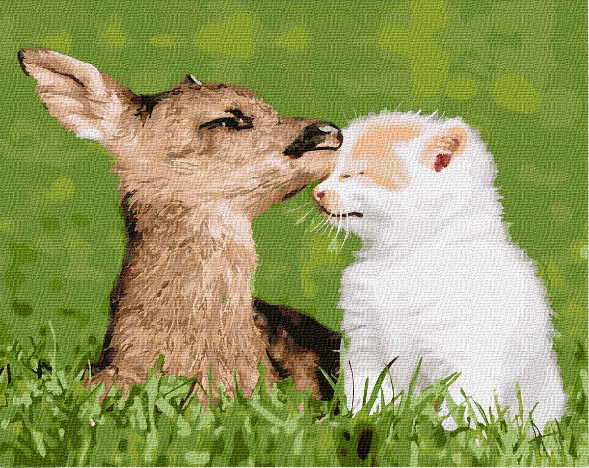 Картина по номерам Животные, птицы и рыбы - Естественная любовь