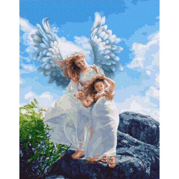 Картина по номерам Дети и ангелочки - Ангелы среди нас