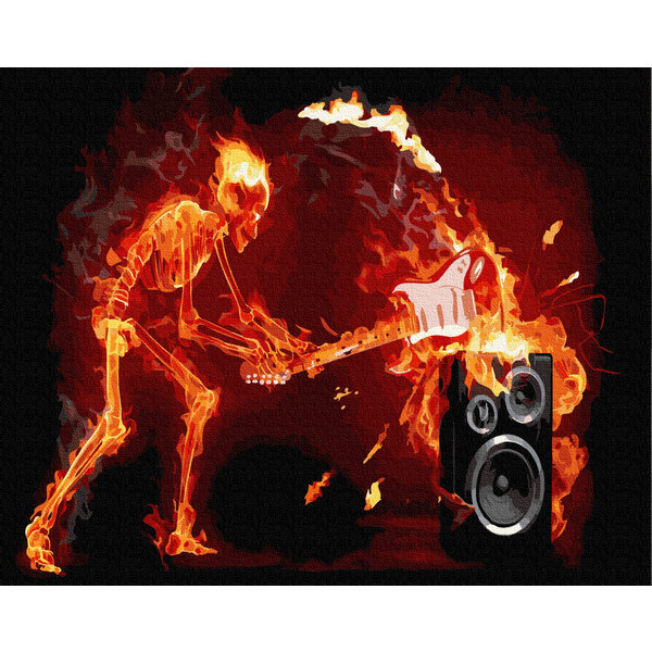 Картина по номерам Мужские - Вогняний Рок