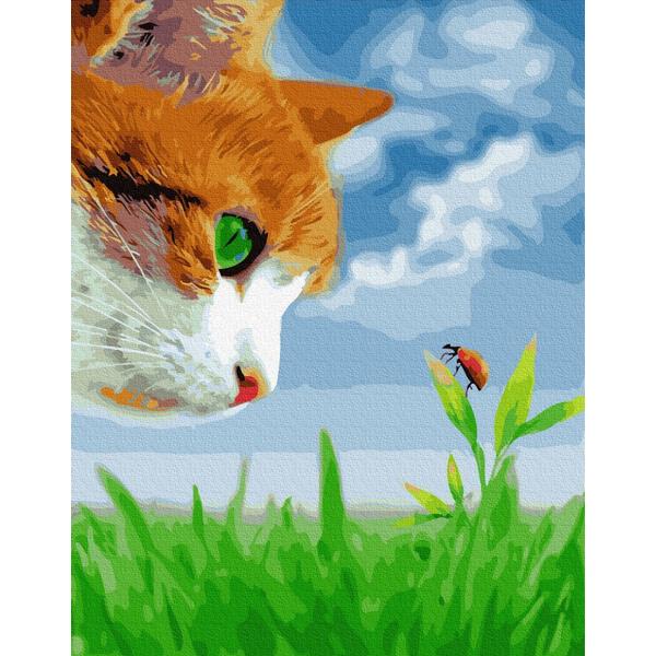 Картина по номерам Для начинающих - Кот учёный