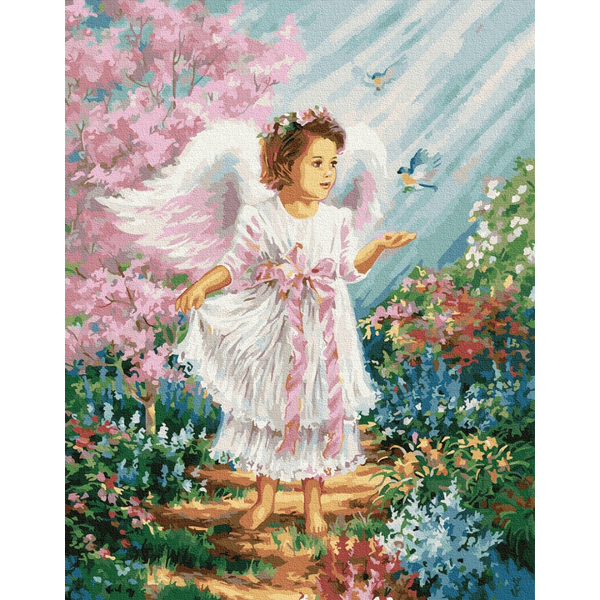 Картина по номерам Дети и ангелочки - Ангелятко